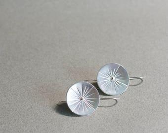 Sundial Earrings » Sterling Silver