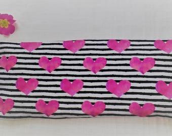 Valentine Gift, 100 % organic Eye Pillow, Hearts, Headache, Aromatherapy, Sleep Aid, Yoga, Hot Pad, Cold Pad, Wife Gift, Husband Gift,