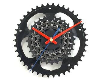 Wall Clock, Bike Clock, Bicycle Clock, Unique Clock, Cycling Decor, Silent Clock, Recycled Clock, Decor Art, Bike Gear Clock, Christmas Gift