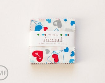 Airmail Candy Pack, Mini Charm Pack, Eric and Julie Comstock, Moda Fabrics, Pre-Cut Fabric Squares, 37100MC