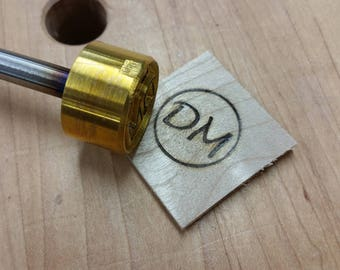 "1"" Round Custom Initials with Ring Branding Iron"