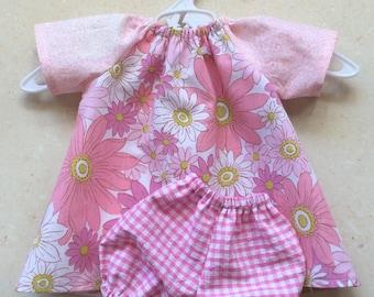 """pink floral dolls set, 10-16"""""""