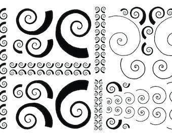 5x7 altered art rubber stamp sheet Klimt design by Barbara