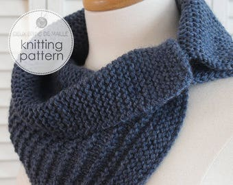 Knitting Pattern Scarf with buttons. Knitting Pattern Cowl. Knit Scarf. Knit Patterns. Knitting Pattern. Knitting Accessories.