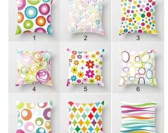 Mix and match throw pillow design,chose any pillow,rainbow colorful geometric custom pillow cover,simple accent pillow,minimalist home decor