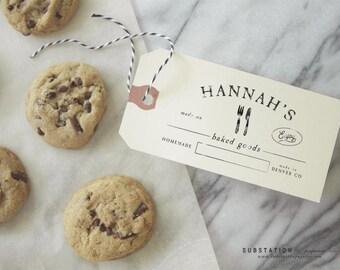 Baking Rubber Stamp - Baked with Love - Bake Sale - Cooking - Rubber Stamp - Homemade - Handmade - Recipe - Gift Basket - DIY - Baker