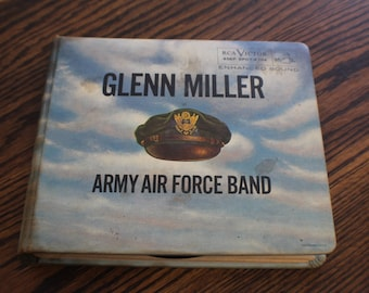Glenn Miller Army Air Force Band 45EP Holder and Records