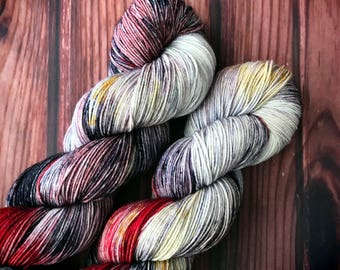 Hand Dyed Yarn, Sock Yarn, Indie Dyed Yarn, Merino Wool Yarn - February YOTM:  Go For the Gold on Simple Sock