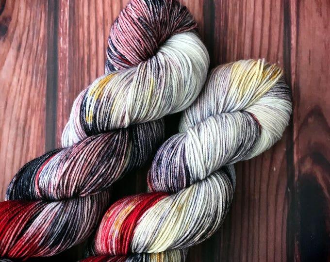 Hand Dyed Yarn, Sock Yarn, Indie Dyed Yarn, Merino Wool Yarn - February YOTM:  Go For the Gold on Simple Sock