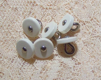 VINTAGE Shoe Or Mattress Buttons For Assemblage