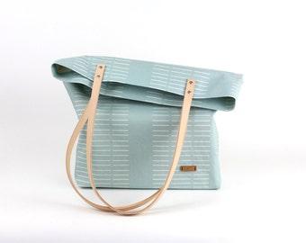 Shoulder bag Mint Jade/leather carrier nature/bio
