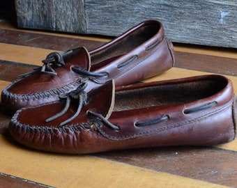 Vintage Minnetonka Leather Driving Moccasins, W 7