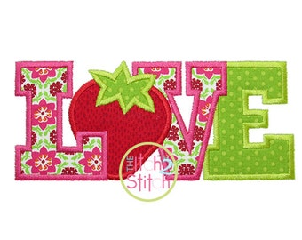 Strawberry LOVE 2 Applique Design 4x4, 5x7, and 6x10  INSTANT DOWNLOAD now available