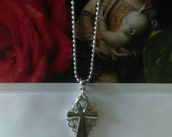 The Goddess of Mercy and Compassion Prayer Card and Necklace