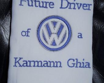 Volkswagen inspired Future Driver burp cloth