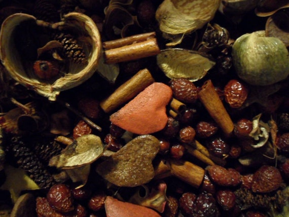 Ginger bread Spice fixins  -  primitive bowl fillers with refresher oil