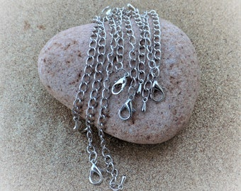 Strands 12 mm with chain Extender + plated droplet silver - individually