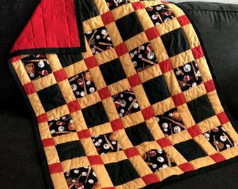 Baseball Baby Quilt Handmade One Of A Kind Baby Quilt Crib Nursery Blocked Patchwork Quilt