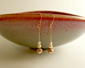 Swarovski Pearl Simple Drop Earrings