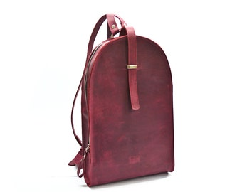 Women leather backpack, school backpack, leather bag, leather rucksack