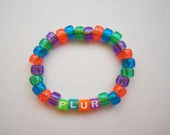 PLUR Translucent Kandi Bracelet
