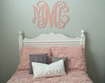 More Colors. Large Wooden Monogram Wall ...