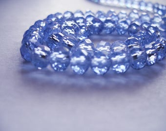 Crystal Beads Faceted Blue Rondelles 6x4mm