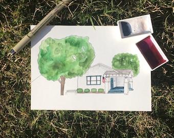 Watercolor - House Portrait