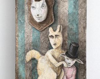 Rufus et Le Nain Original Acrylic Painting