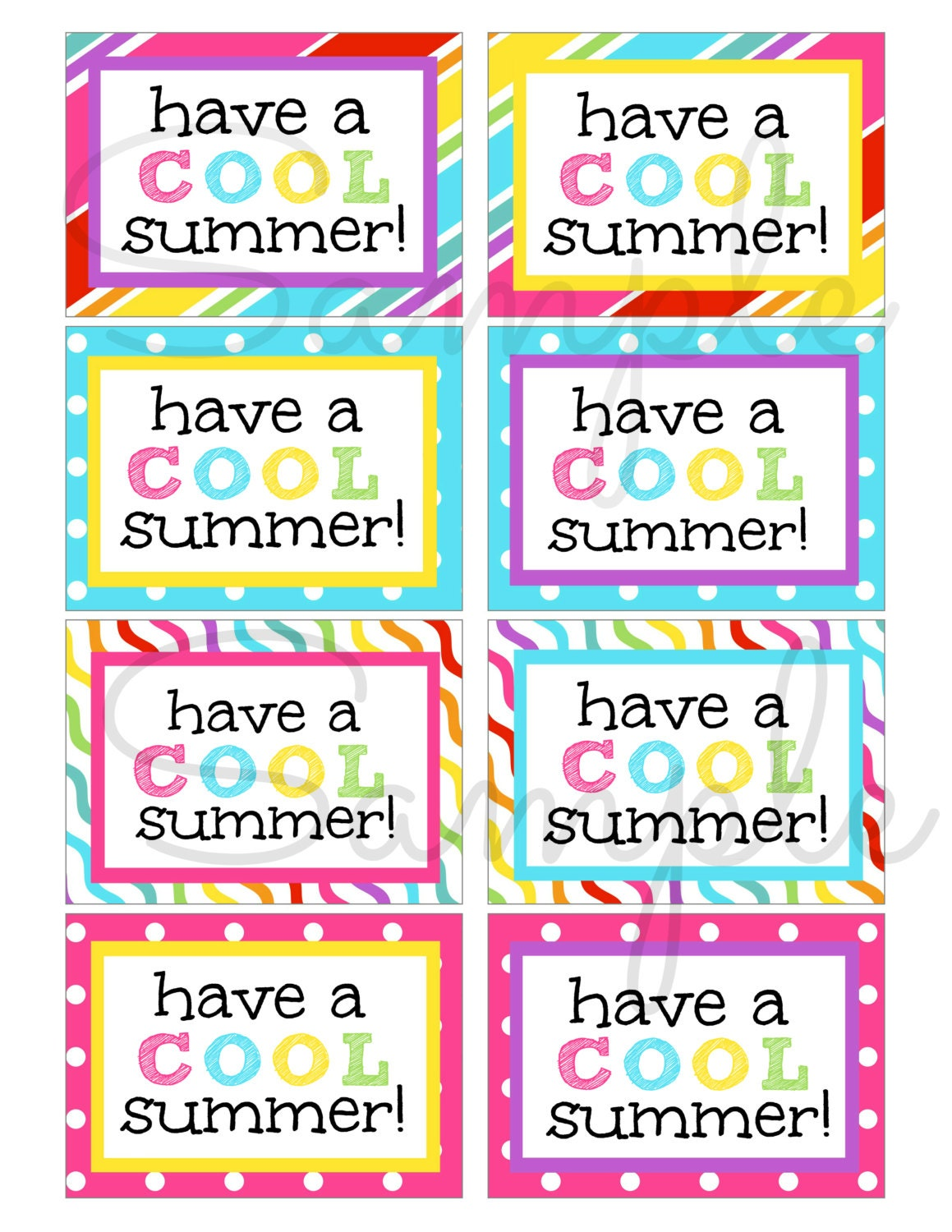 It is a picture of Critical Have a Cool Summer Printable