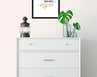 Printable wall art, home sweet home decor, digital download housewarming gift, wall decor, farmhouse decor, digital print, boho decor