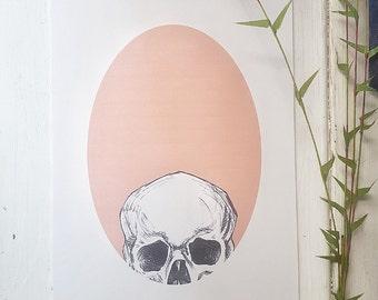Sneaky Skull - A5 Print