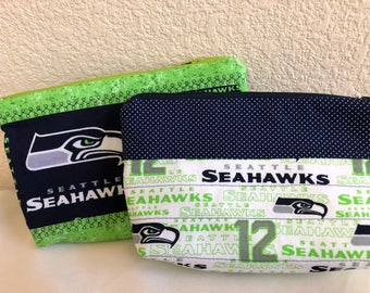 Make-up Cosmetic Bag: Seahawks