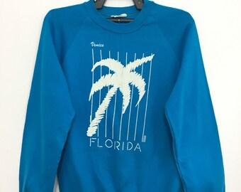 Vintage 80's 90's VENICE FLORIDA Sweatshirt Jumper Medium Size on tag