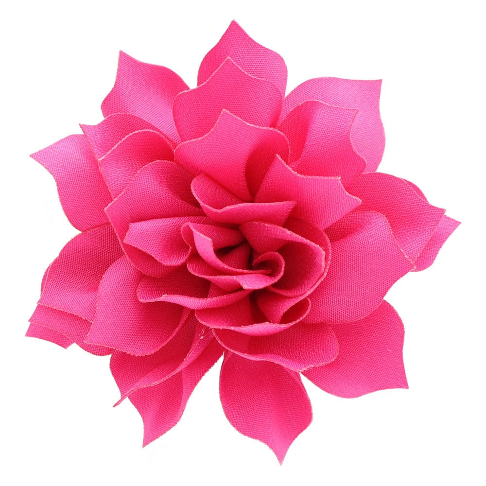 35 Medium Petal Blossom Hair Flower Shocking Pink 2