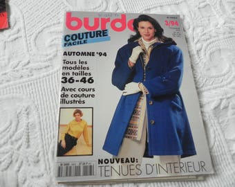 BURDA easy sewing autumn 1994 magazine