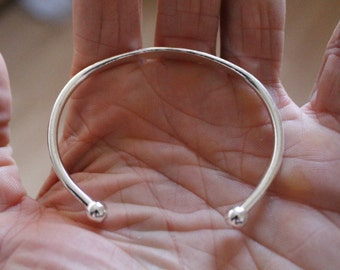 Silver Plated Torc Open Cuff bangle