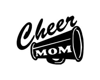 Decal - Cheer Mom with Megaphone - D002 - Window Wall Automotive