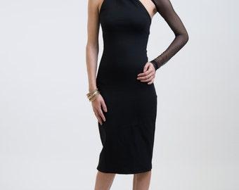 Evening Dress / Formal Dress / Party Dress / One Shoulder Pencil Dress / Prom Dress / Wedding Party Dress / Marcellamoda - MD0003