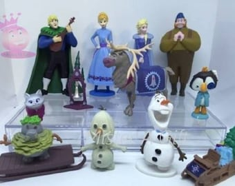 Mister A Gift Disneys Olafs Frozen Adventure set of 12 plastic Cake Toppers