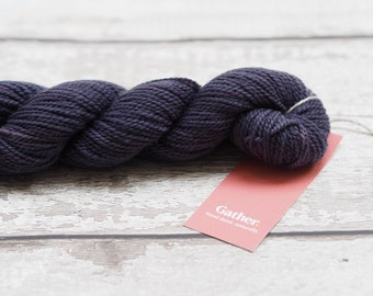 Naturally dyed yarn - Logwood on 100% Lambswool