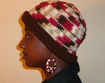 Cherry Afloat, Crochet Winter Cap