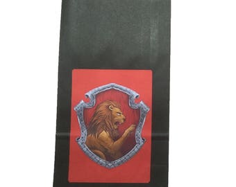 Party Bags. Harry Potter / Hogwarts Inspired. 4 pack. Gryffindor.