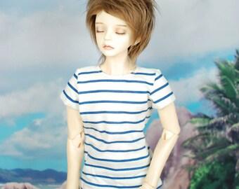 Super Gem White and Blue Striped T-Shirt for SD17 BJD