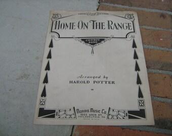 1932 sheet music (  home on the range  )