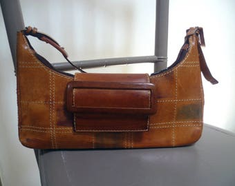 Brown leather shoulder bag large tote bags for women