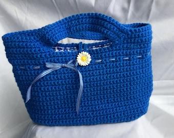 Blue Daisy Handbag / Purse