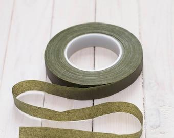Stretch tape moss green 1/2 (12.5mm)