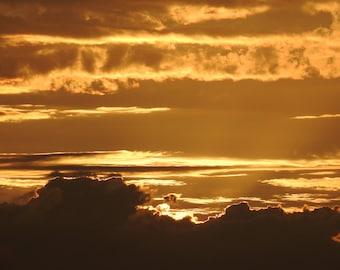 Sunset Clouds Steinhatchee Florida Summer Golden Free Shipping