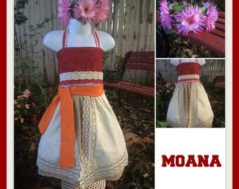 Moana Dress, Moana Birthday, Moana Party, Moana Costume